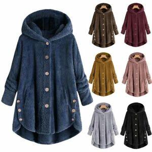 Women-Winter-Warm-Fluffy-Coat-Overcoat-Button-Jacket-Tops-Outwear-Loose-Sweater
