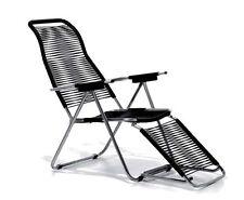 jan kurtz Spaghetti Sonnenliegestuhl schwarz sauna Relax sunbed relaxchair NEU