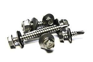 750 14x1-1//2 Stainless Steel TEK Sheet Metal Screws w// Neo Sealing Washer