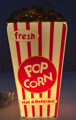 Popcorn Box Table Lamp Night Light Media Room Kids Room Movie Theatre Decor Ebay