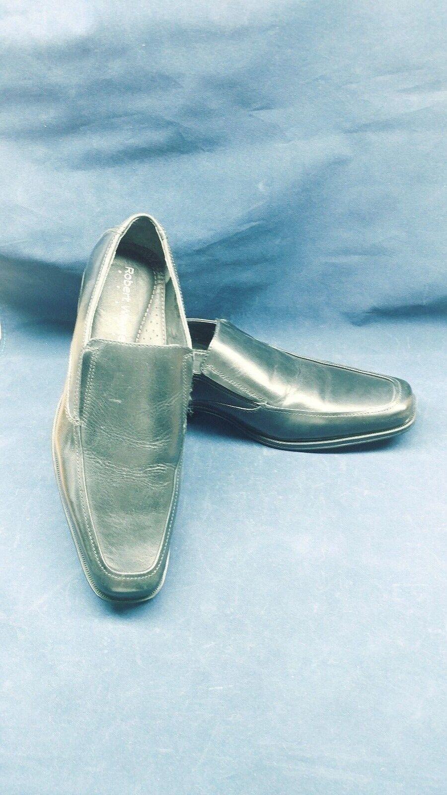 Robert Wayne Footwear ~ Mens Shoes Doyal-001-10D Black ~ New in Box ~ NIB