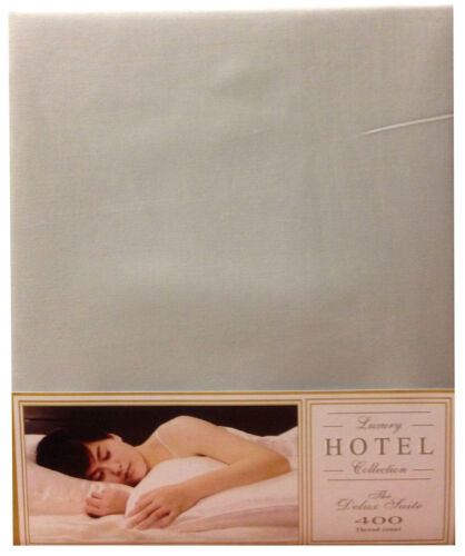HOUSEWIFE PILLOWCASE PAIR LT GREY 400TC EGYPTIAN COTTON HOTEL COLLECTION SILVER