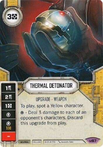 1x 1 x Thermal Detonatorx 1 Legendary Awakenings Star Wars Destiny SWD with Dice