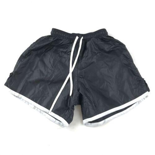 Vintage 90s Soffe Shorts Youth Large Black Nylon Swishy Track Shorts