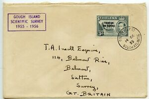 TRISTAN-DA-CUNHA-1955-3d-ovpt-GOUGH-ISLAND-SOUTH-ATLANTIC-cds-GOUGH-IS-cachet
