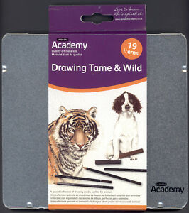 Derwent-Academy-19-Piece-Pencil-Drawing-Set-NEW-Artist-Quality-Pencils-in-tin