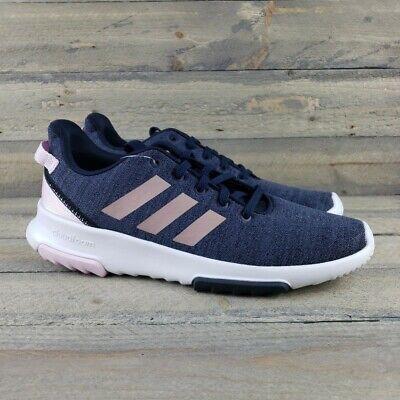 adidas Cloudfoam Racer TR Running Shoes Big Girl Youth Sz 7 Navy/Pink NWT | eBay