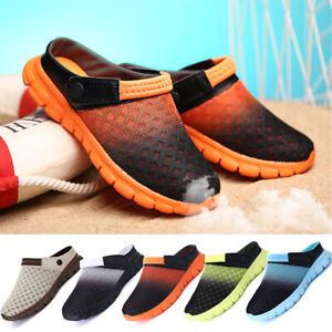 Caballeros-senora-flip-flop-Clogs-Mesh-Zapatos-para-bano-sandalias-zapatillas-de-casa-playa-Slippers