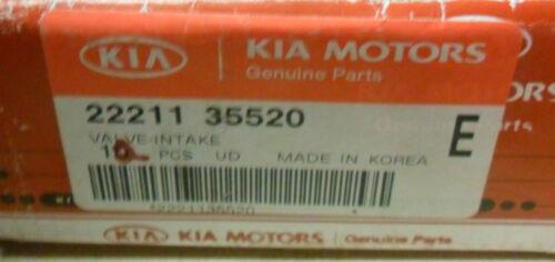 NEW OEM KIA 22211 35520 Engine Intake Exhaust Valve Amanti Sorento Santa Fe
