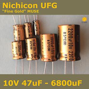 Nichicon-UFG-FG-034-Fine-Gold-034-MUSE-High-Grade-for-Audio-10V-Capacitors
