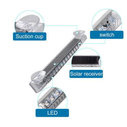 Car LED Color Solar Burglar Alarm Warning Strobe Flash Light Anti-theft Security
