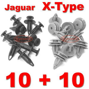 Jaguar X Type Side Skirt Sill Moulding Trim Clips Set Of X 20 Plastic Clips Ebay