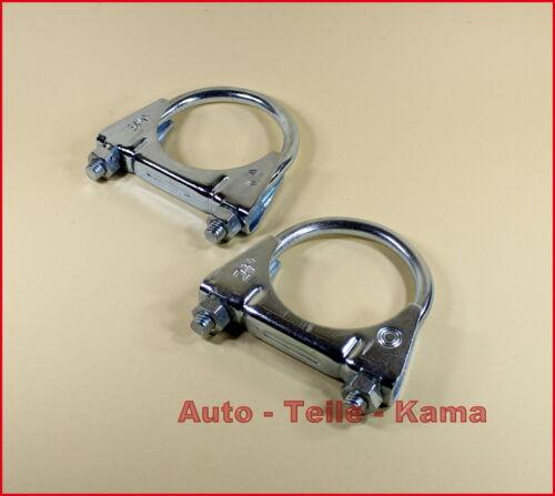 2 x Auspuffschelle für Peugeot Renault Montageschelle M8 Ø 54 mm Rover