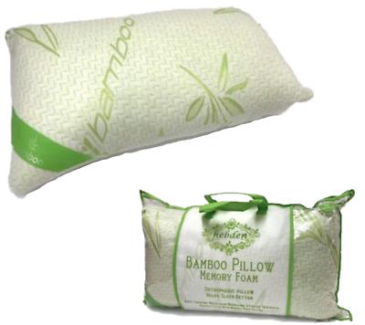 2pc 70cm Neck Support Back Head Bamboo Pillow Orthopedic Shredded Memory Foam