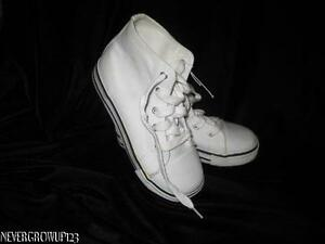 Faded Glory White Hi High Top Tennis Shoes Sneakers Girls