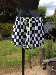 Womens-Checked-Drawn-String-Shorts