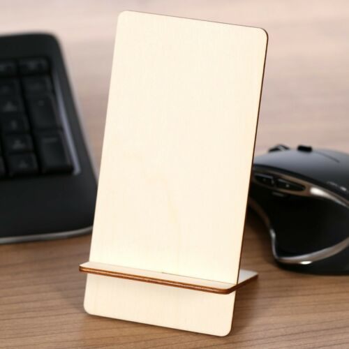 Design support portable support en bois et le verre acrylique facultatif avec gravure