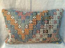 "Handmade Turkish Kilim cushion cover, Throw pillow, Lumbar Boho 16x24"" (40x60cm)"