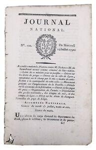 Saint-Lo-en-1790-Manche-Lyon-Liege-Belgique-Rare-Journal-Revolution-Francaise