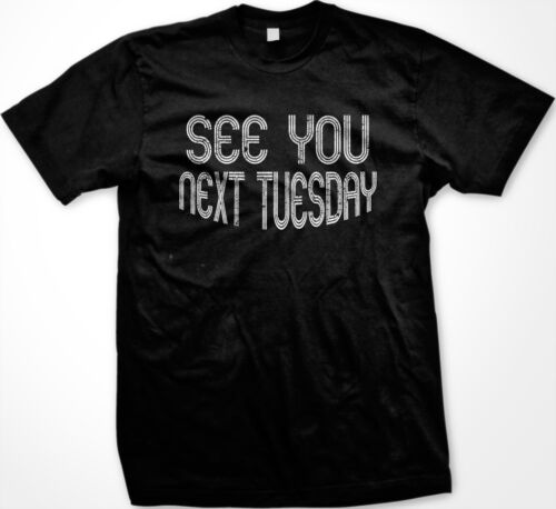 SALE See U Next Tuesday Backronym Slang Funny Gag Insult TV Show T-shirt