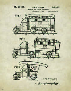 Image Is Loading Travel Trailer Camper RV Patent Poster Art