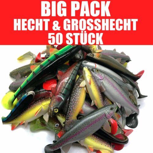 Jackson Profi Gummifisch Set BIG Hecht /& Großhecht Angeln 17,5-30cm 50 STÜCK