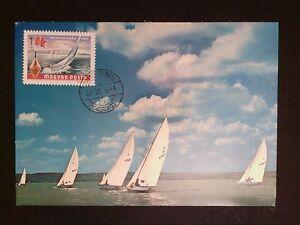 à Condition De La Hongrie Mk 1968 Lac Balaton Voilier Maximum Carte Maximum Card Mc Cm C8556-afficher Le Titre D'origine Vente De Fin D'AnnéE