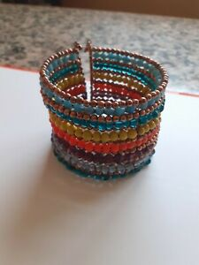 Beau bracelet manchette muticolore Neuf