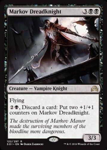 Foil Shadows Over Innistrad magicm English Foil Markov Dreadknight 4x NM-Mint