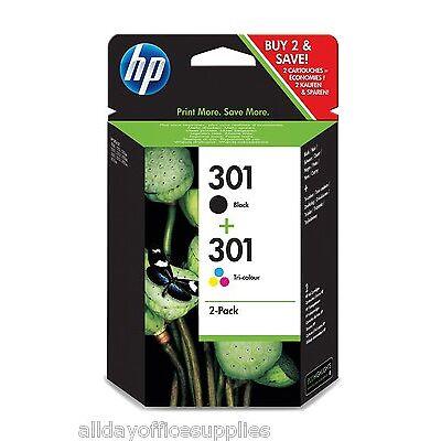 Original HP 301 Black & Colour Ink Cartridge Deskjet 3050 Ink Cartridges N9J72AE