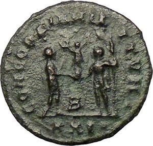 DIOCLETIAN-286AD-Ancient-Roman-Coin-Nude-JUPITER-Zeus-Cult-i29269