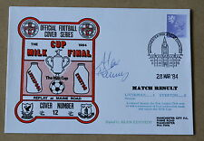 LIVERPOOL V EVERTON MILK CUP FINAL 1984 DAWN COVER SIGNED BY ALAN KENNEDY