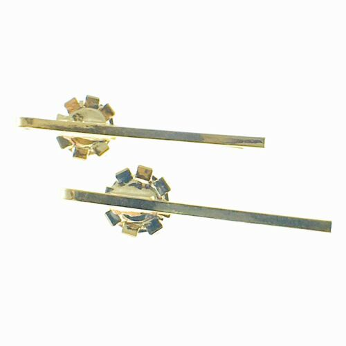 USA Bobby Pin Rhinestone Crystal Hair Clip Hairpin Jeweled Elegant Short Brown