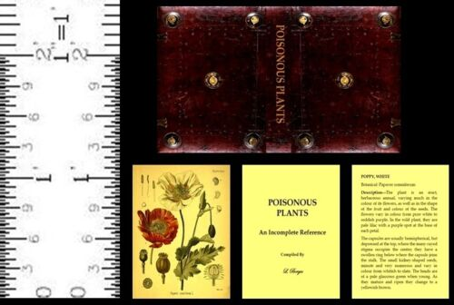 1:12 SCALE MINIATURE WIZARD BOOK POISONOUS PLANTS