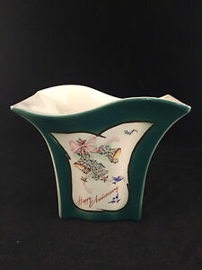 Green-Rectangular-034-Happy-Anniversary-034-Floral-Bells-Vase