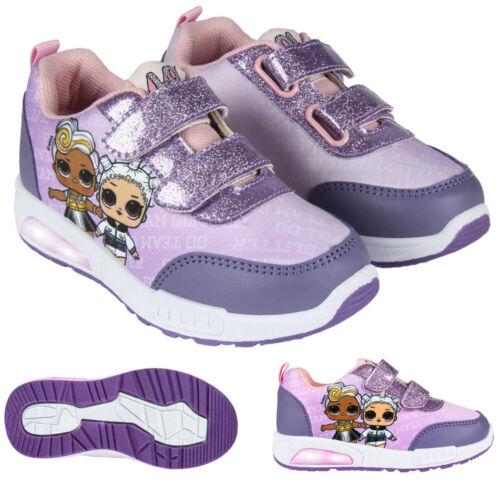 LOL Surprise Freizeitschuhe Turnschuhe Schuhe Sneaker LED Blinkeffekt Lila