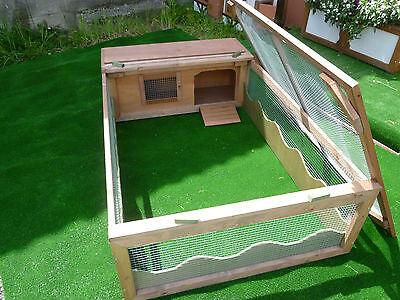 # 5' x 3' Tortoise / Rabbit / Guinea Pig Run / Enclosure with Hut,