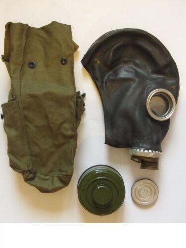 Size 2 Soviet Military Gas Mask GP5 BLACK Russian Vintage USSR Full set NOS