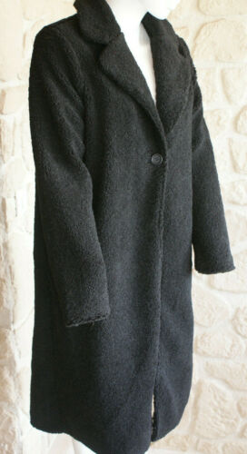 Neuf Taille Noir Manteau Lucy S Marque sg Vera 5qBxO8w