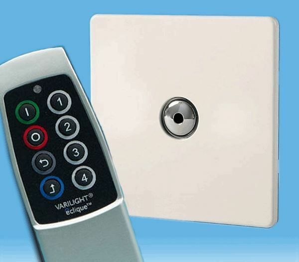 V-Pro IR, 1 Gang Remote Touch LED Dimmer, Screwless Premium White & Scene Remote