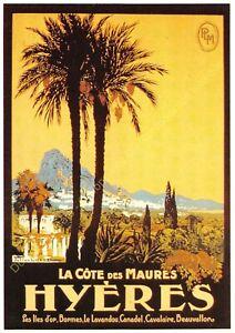 Postcard Ads Advertising P. L.M.Hyeres Edit Clouet T2