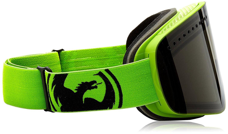 Dragon NFX ski snowboard Goggle Neon Green Smoke 722-5826 +Yellow bonus lens NEW