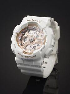 a7258f458d53 BA-110-7A1 White Rose Gold Casio Baby-G Lady s Watches New ...