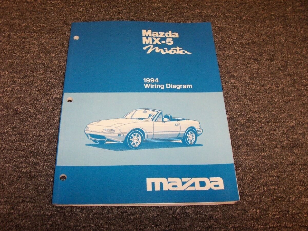 1994 Mazda MX5 Miata Congreenible Original Electrical Wiring Diagram Manual 1.8L