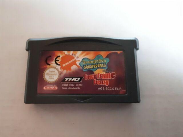 BOB L'ÉPONGE ET SES AMIS LA PHOTO EN DÉLIRE Jeu Nintendo Game Boy Advance GBA VF
