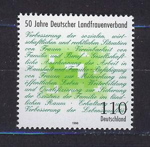 ALEMANIA-RFA-WEST-GERMANY-1998-MNH-SC-2003-Rural-women-s-assoc