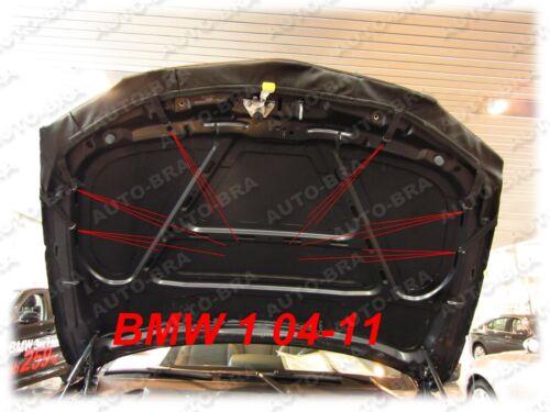 04-13 Steinschlagschutz Haubenbra Tuning Carbon Optik Bonnet BRA BMW 1er Bj
