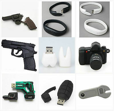 Cute Mini Camera Gun USB 2.0 Memory Stick 8GB 16GB Flash pen Drive Gift