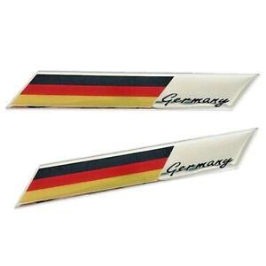 2x-Allemagne-embleme-racing-Autocollant-GERMANY-VOITURE-MOTO-3d-Drapeau-DRAPEAU