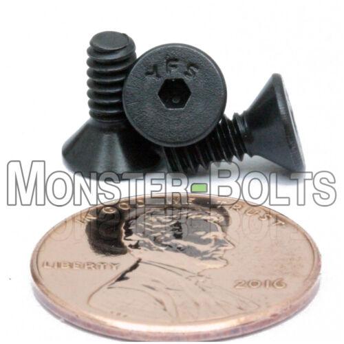 "Flat Head Socket Caps Screws SAE Alloy Steel Black Oxide #6-32 x 3//8/"" Qty 10"